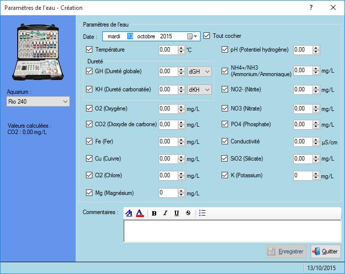 logiciel aquaviparegest logiciel d 39 aquariophilie logiciel de gestion d 39 aquariums. Black Bedroom Furniture Sets. Home Design Ideas